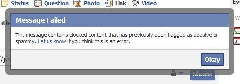 Thông báo nếu URL bị lọt vào danh sách Spam