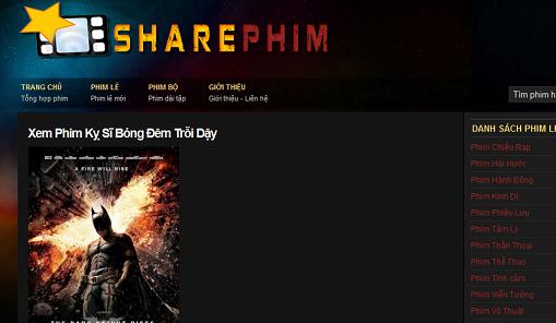 Trang xem phim cũng được làm bằng WordPress