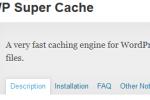 WPSuperCache giúp tăng tốc website của bạn