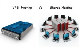 Ảnh minh họa: Bên trái là VPS còn bên phải là Web hosting