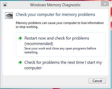 Công cụ Memory Diagnoistic