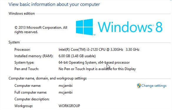 Máy tính không nhận đủ RAM 6G nhưng chỉ cho hoạt động 3,4G RAM