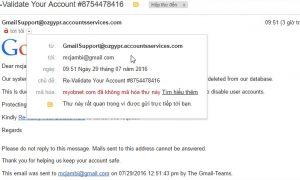Trò lừa đảo lấy tài khoản Gmail hoặc cài virus vào máy tính phổ biến