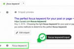 Focus Keyword trong Yoast SEO