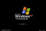 Windows XP professional giao diện khởi động
