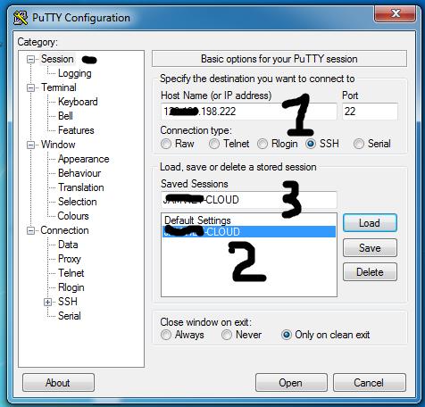 Giao diện Putty