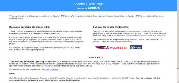Trang mặc định của Apache