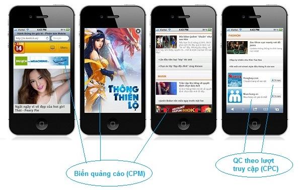 Một số định dạng quảng cáo cho thiết bị di động thông minh