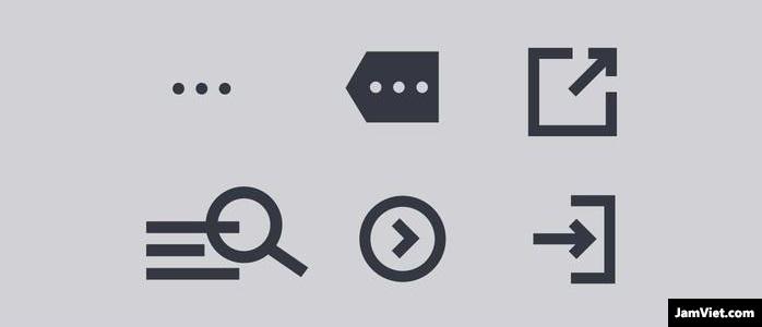 Các icon website, icon mô tả đọc thêm