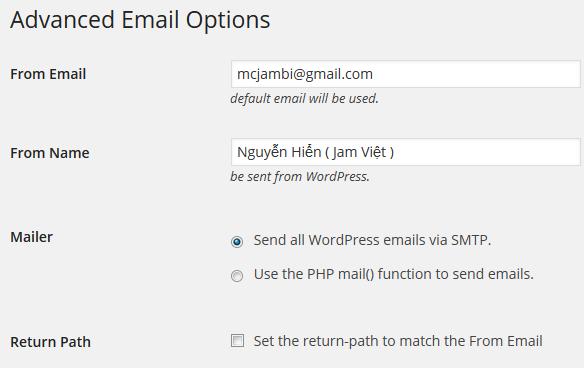 Cấu hình Email bước 1