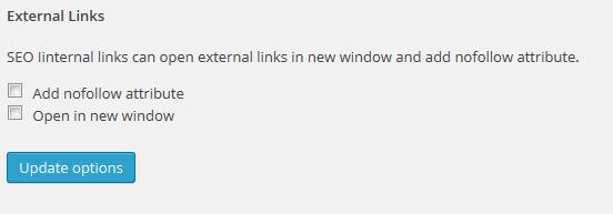 Quản lý cả thuộc tính cho External link