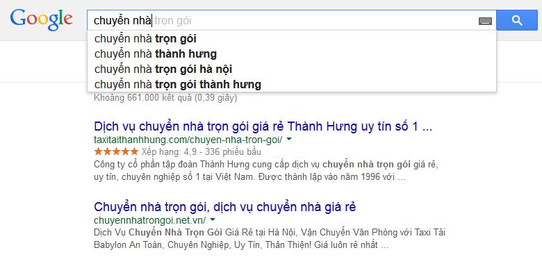 Google Suggest từ khóa tìm kiếm nhiều có liên quan