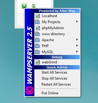 Giao diện thân thiện và dễ dùng của Wamp