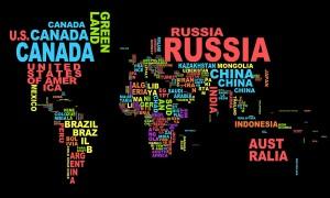 Bản đồ được tạo bằng Typography