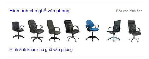 Google hiển thị hình ảnh với từ khóa ghế văn phòng