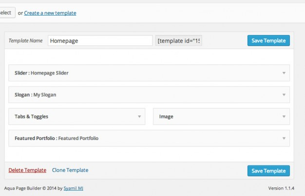 Giao diện làm việc của plugin Aqua Page Builder