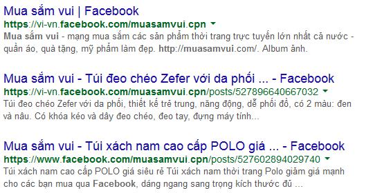 Google sử dụng thông tin giới thiệu của Fanpage