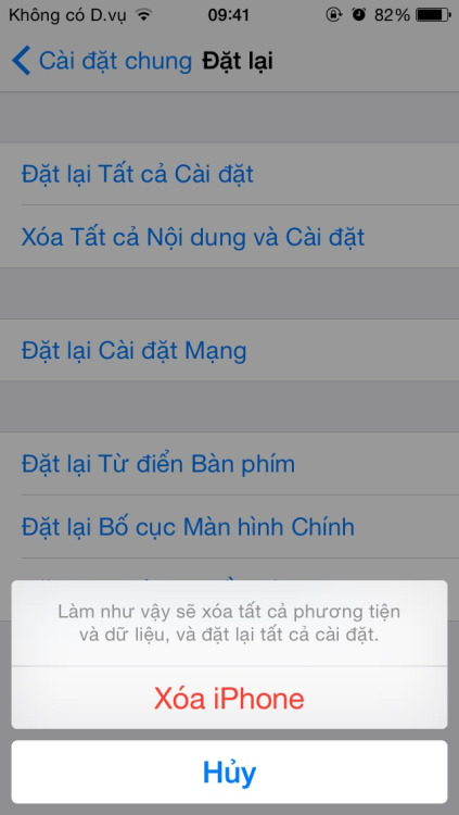 Reset lại toàn bộ cài đặt trong Iphone