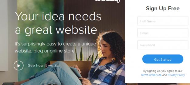 Weebly là dịch vụ cho phép tạo trang bán hàng và blog miễn phí