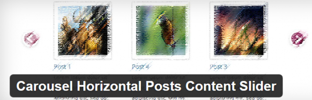 PLugin Carousel Horizontal Posts Content Slider