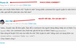 Hiển thị comment của User đăng nhập trong danh sách comment của WordPress
