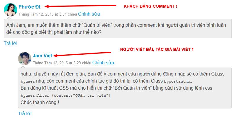 Các comment trên JamViet.com