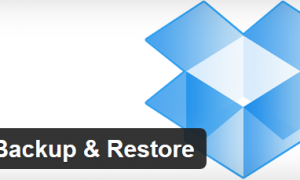 PLugin Dropbox Backup & Restore