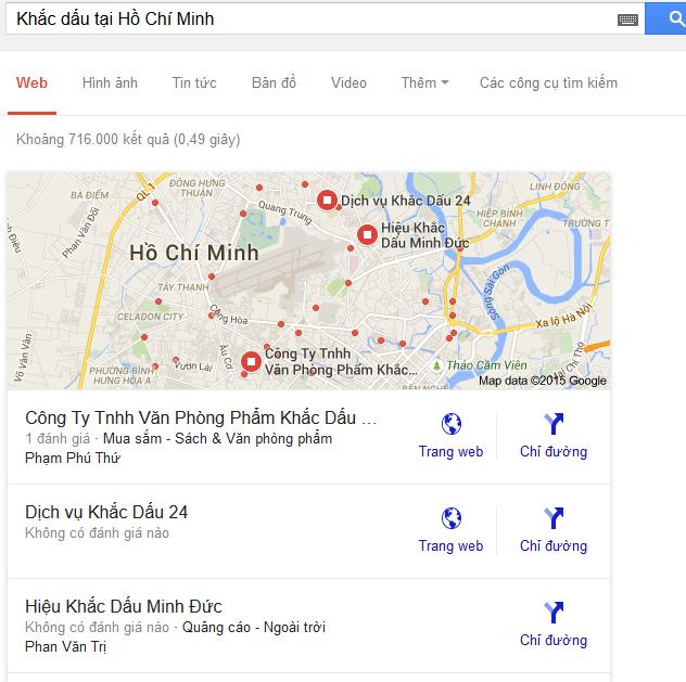"""Thử với từ khóa """"Khắc dấu tại Hồ Chí Minh"""""""