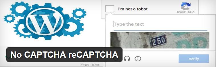Plugin Nocaptcha recaptcha