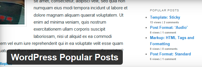 Plugin Wordpress Popular Post