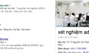 """Thử với từ khóa local """"xét nghiệm ADN tại Hà Nội"""""""