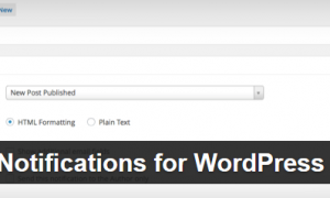Plugin Better Notifications for WordPress