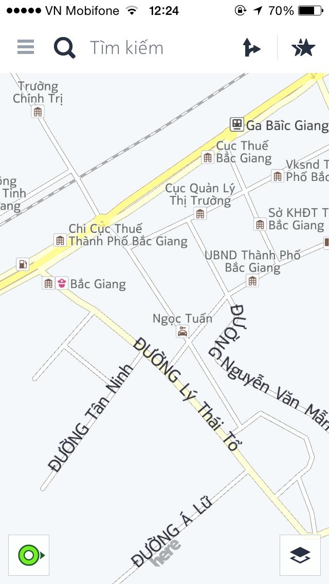 Thử bản đồ, ứng dụng cho vị trí chính xác