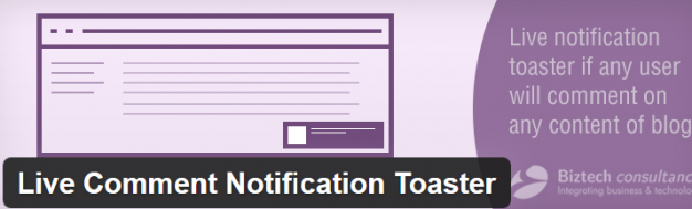 Plugin Live Comment Notification Toaster