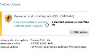 Chức năng Update trên Window
