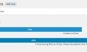 Khi tiến trình backup dừng lại ở con số không may trên plugin BackwpUP