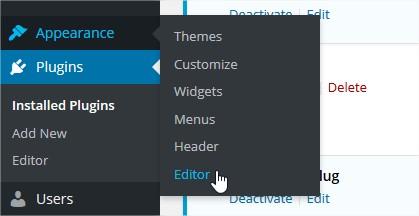 Mặc định Wordpress có trình editor cho file giao diện