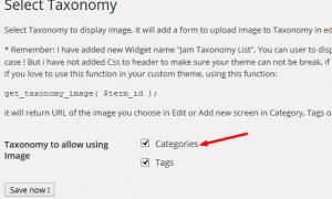Jam Taxonomy Image – thêm ảnh vào trong Taxonomy như Category, Tag …