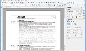 Giao diện OpenOffice writer
