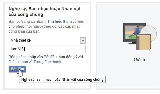 Tạo trang Jam Việt