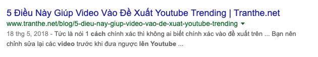 Thẻ mô tả sẽ được Google chọn nếu nó không chứa từ khóa