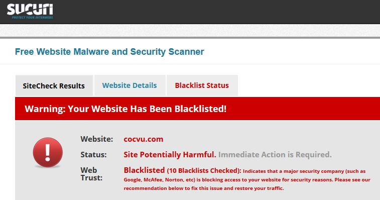 Kiểm tra thử trang Cocvu.com của bạn Jam, kết quả thật ... chẳng có gì bất ngờ :D