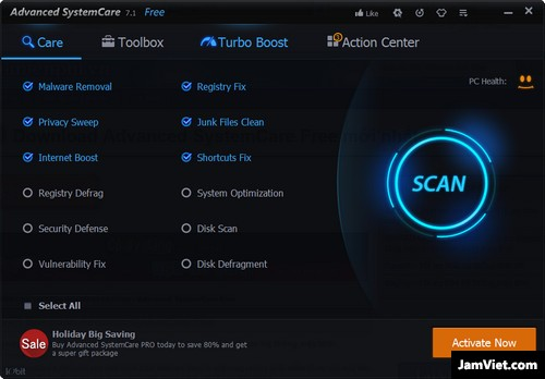 Phần mềm Advanced SystemCare Free