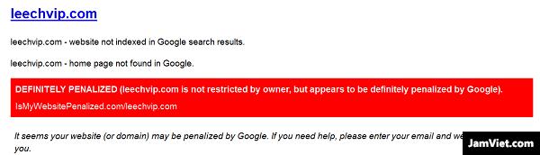Một website đã bị dính thuật toán khi tra với công cụ này