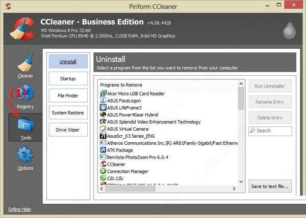 CCleaner - phần mềm dọn dẹp rác hiệu quả