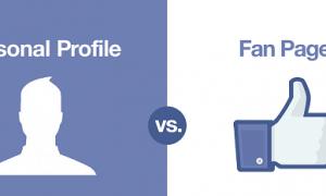 Fanpage vs Facebook Profile