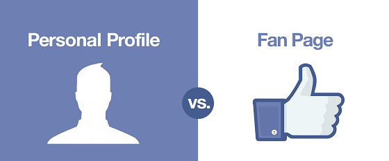 Fanpage vs Facebook Profile
