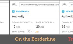 Spam score - ảnh của Moz.com