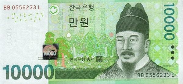 Đồng tiền WON Hàn Quốc