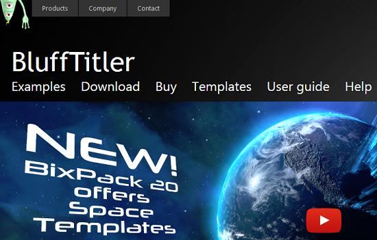 BluffTitler - phần mềm làm intro video 3D tốt nhất